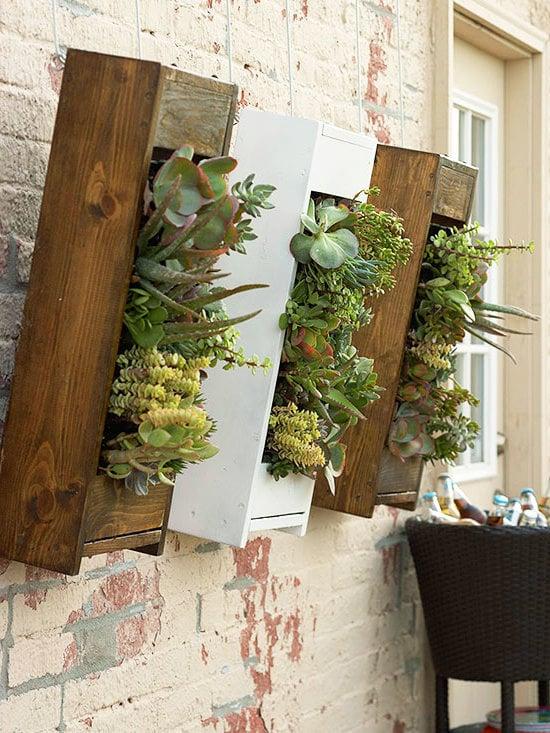 Garten gestalten mit wenig Geld DIY Blumenkasten selber machen