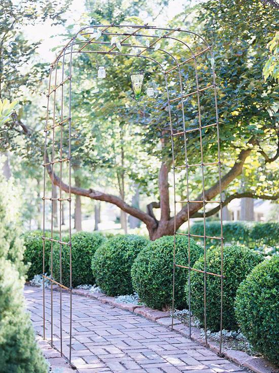 Gartenideen - Metallpergola