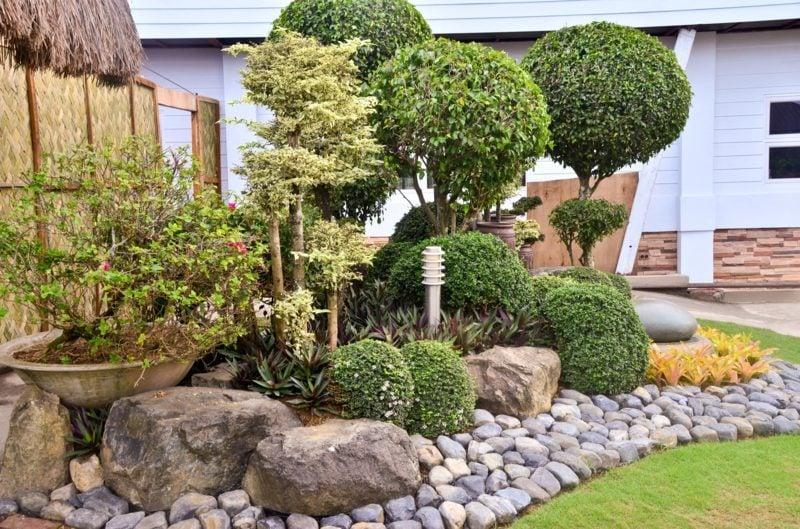 Garten Design Mit Steinen Und Pflanzen