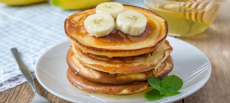 gesundes Frühstück Bananenpfannkuchen Rezept