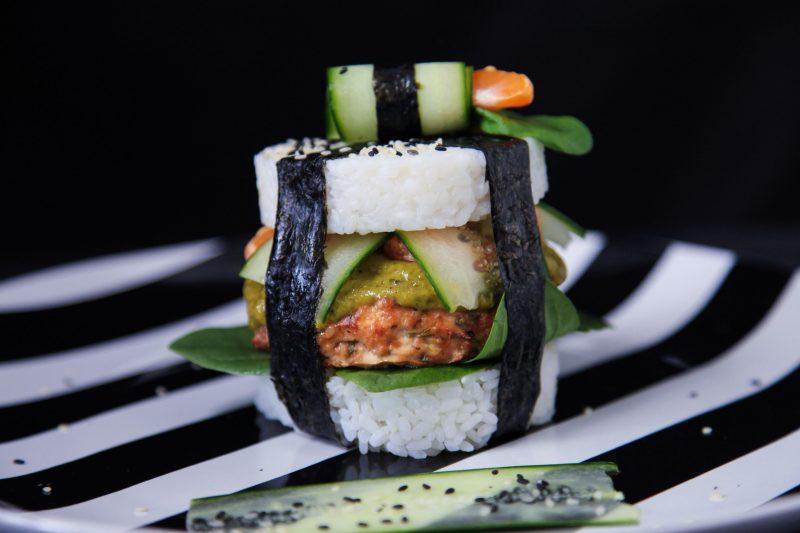 Gesunde Burger Sushi Burger