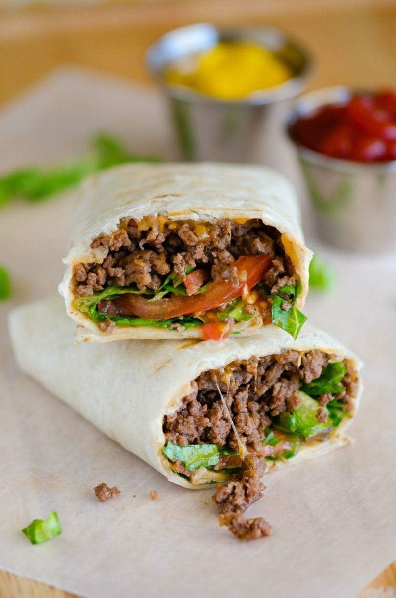 low carb Salat Big Mac leckere Wraps Party