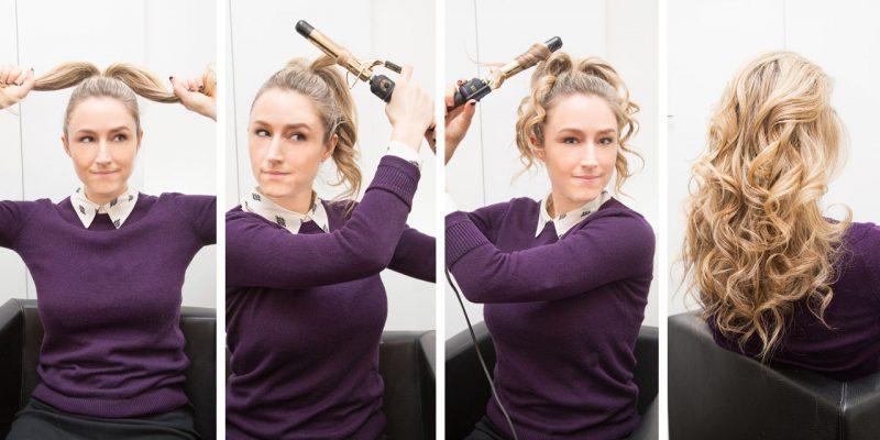 Dauerwelle mittellange Haare