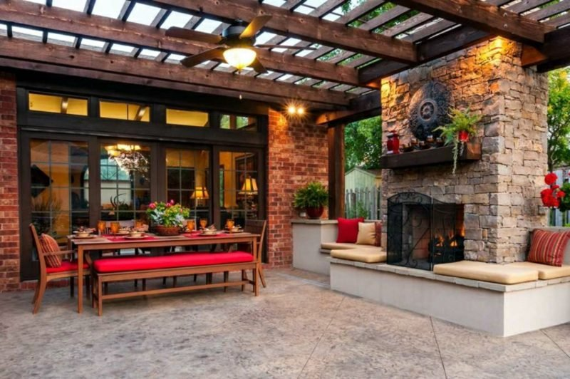 DIY Ideen kamin selber bauen Garten Terrasse