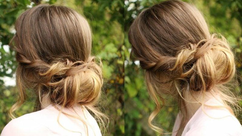 Frisuren lange Haare Chignon