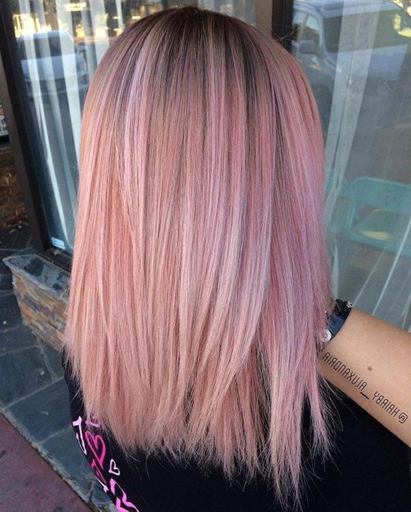Haarfarben Trends 2017 pastellrosa Haare