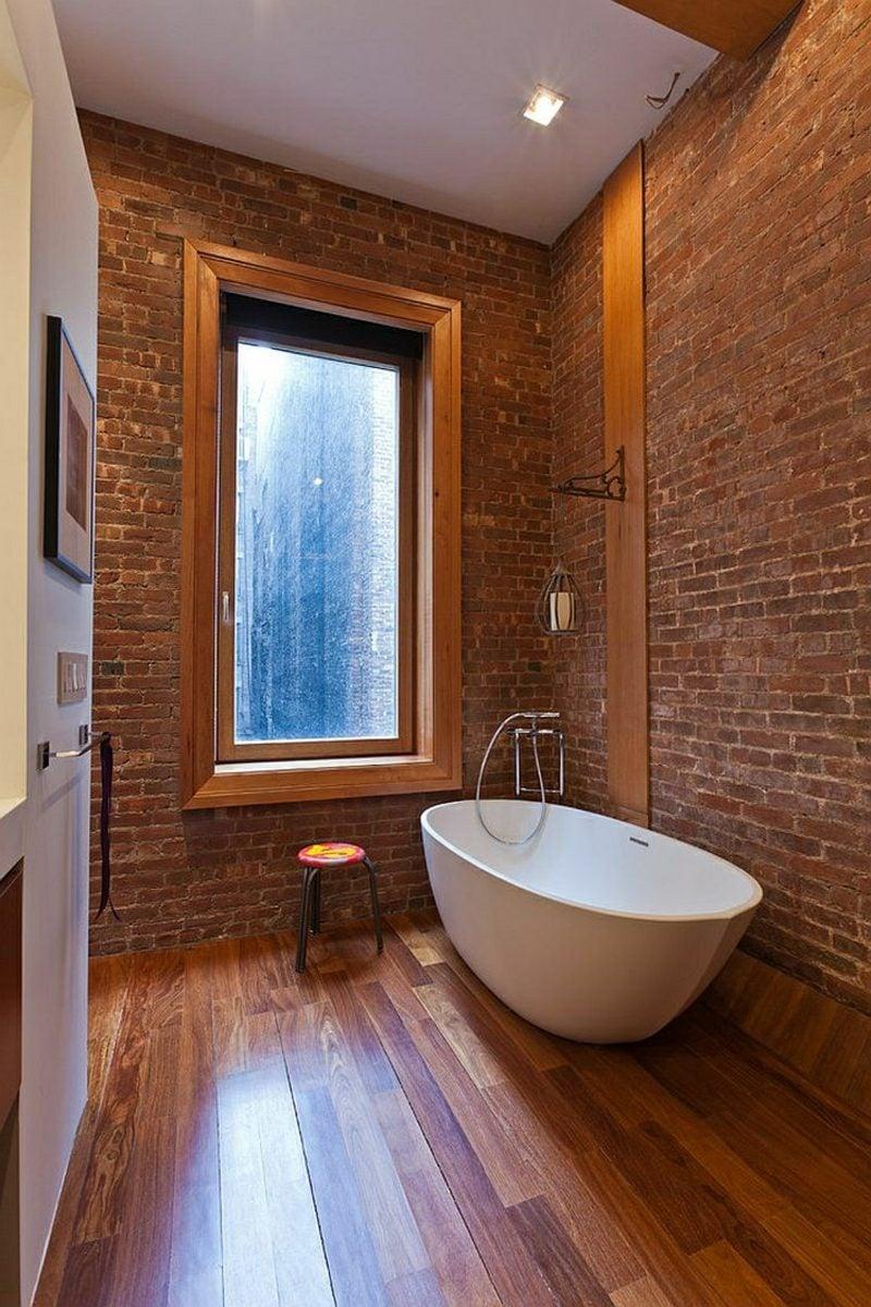Badezimmer Ideen modernes Design freistehende Badewanne