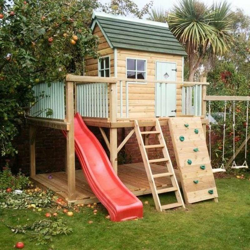 Spielhaus und Klettergerüst im Garten den idealen Standort finden