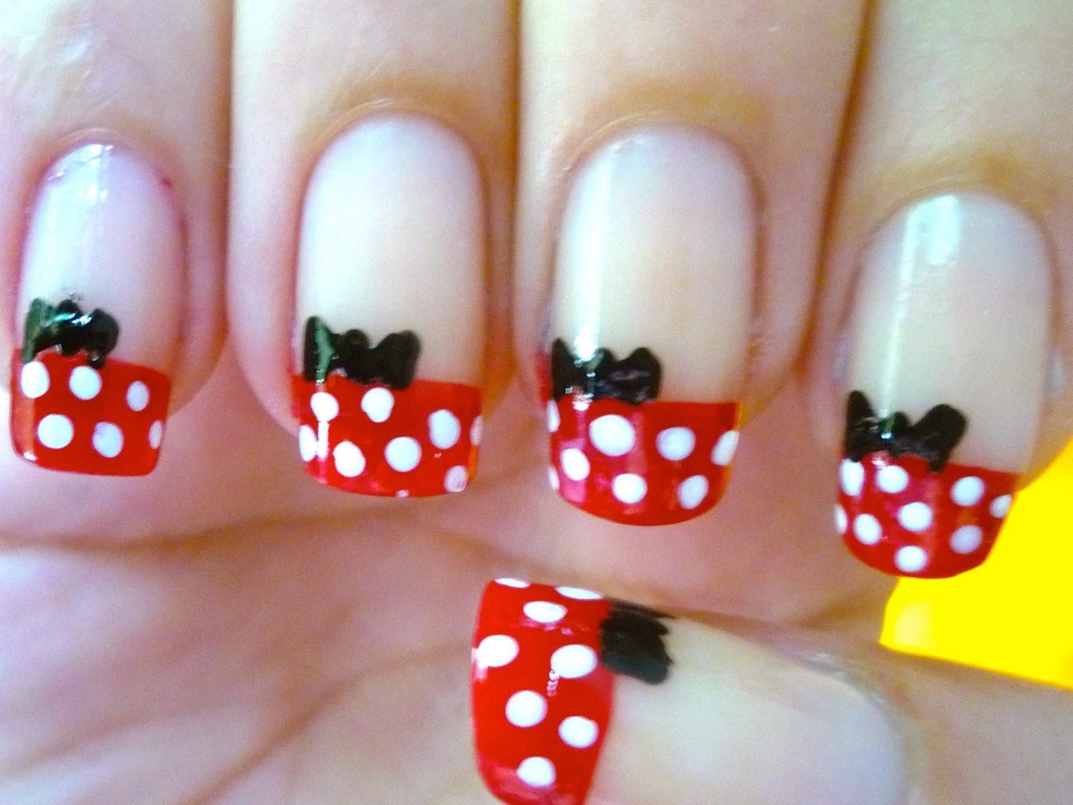 Minnie french nails, einfach zum selber machen