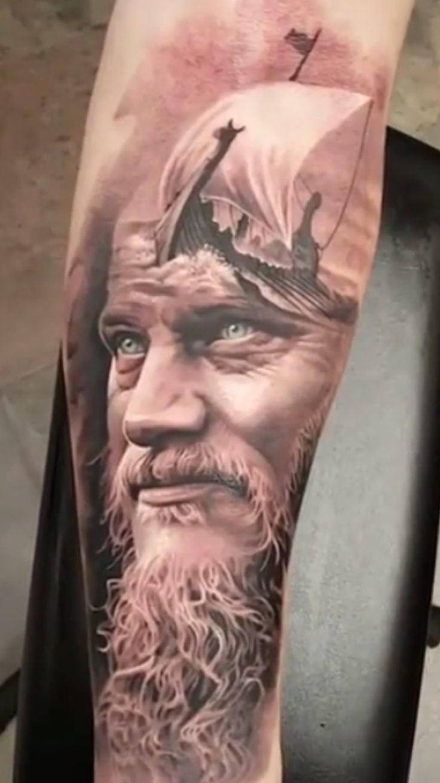 Wikinger Tattoo - Kunstwerk
