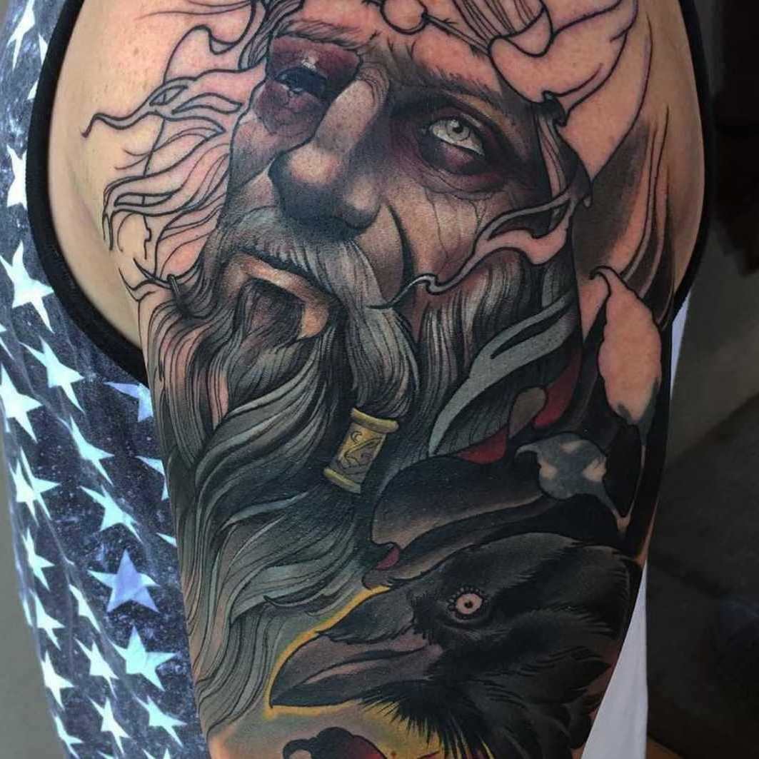Raben Tattoo, einer der Odins Taben