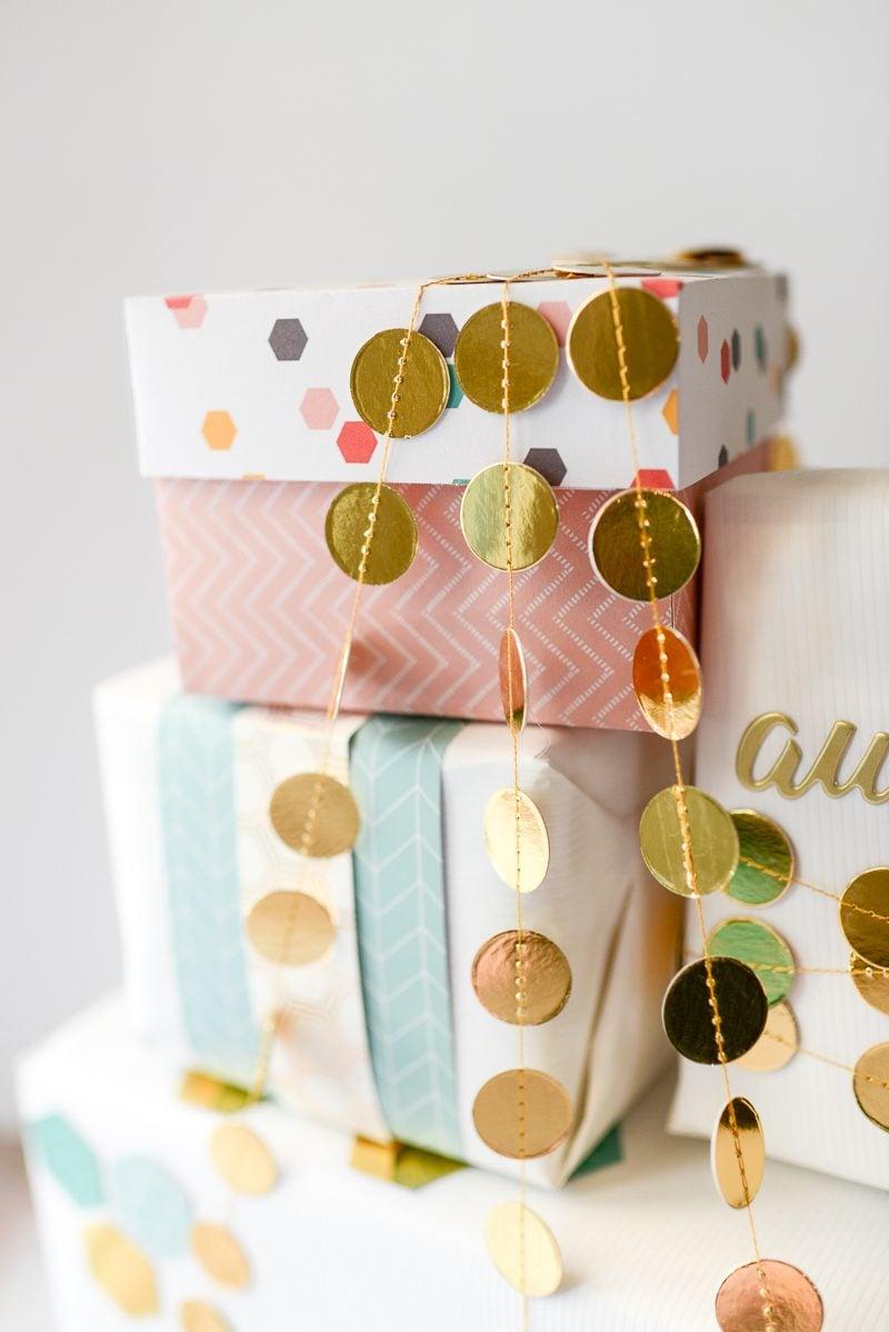 Schachtel falten - ein kleines Geschenkbox basteln