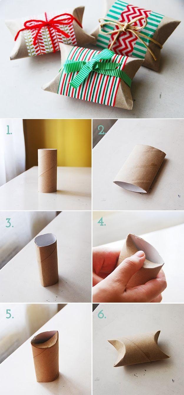 Schachtel falten mit Klopapierrolle