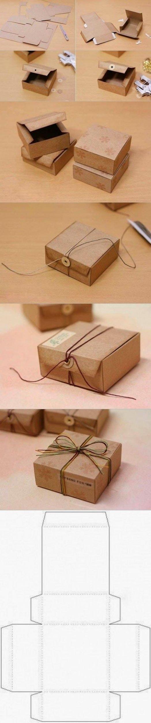 Preiswerte Idee: Schachtel falten aus Pappe