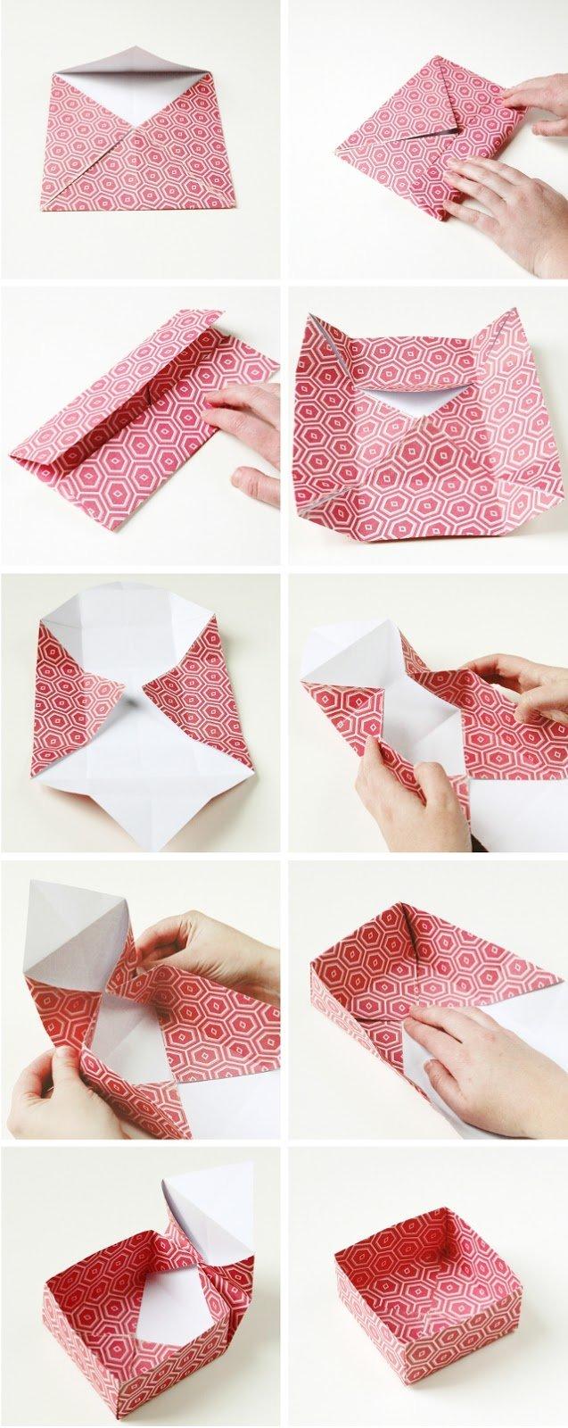 Geschenkverpackung basteln aus Geschenkpapier - DIY Anleitung