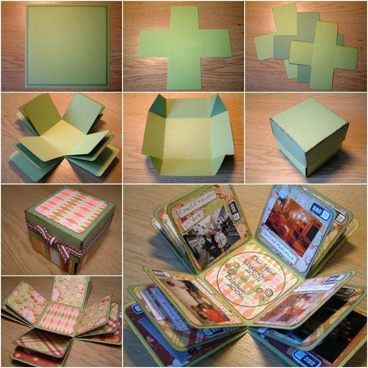 Karton basteln: Geschenkverpackung basteln