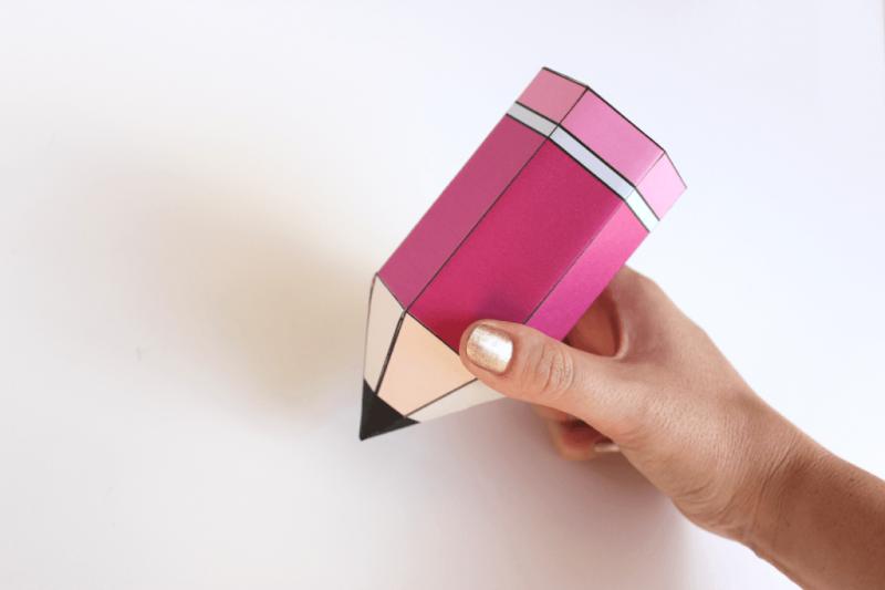 Geschenke zur Einschulung: Bleistift Box basteln
