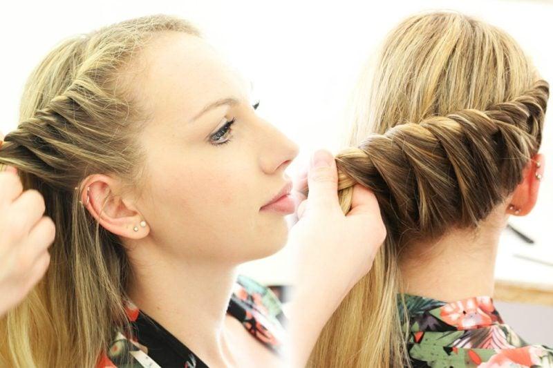 lange Haare Frisur selber machen