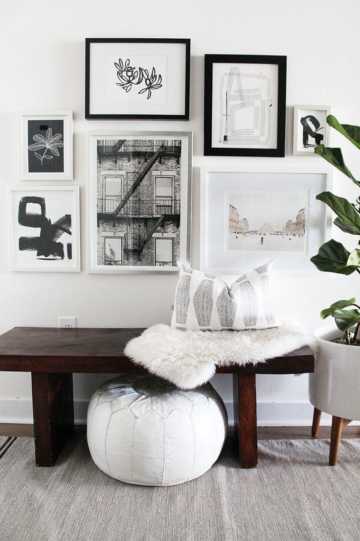 Sitzbank Flur im skandinavischen Stil