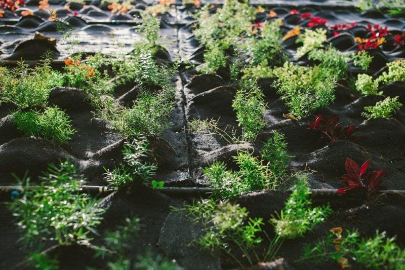 vertikaler garten pflanzentaschen