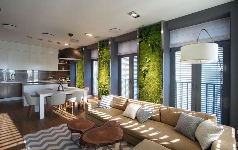wohnzimmer begrünen
