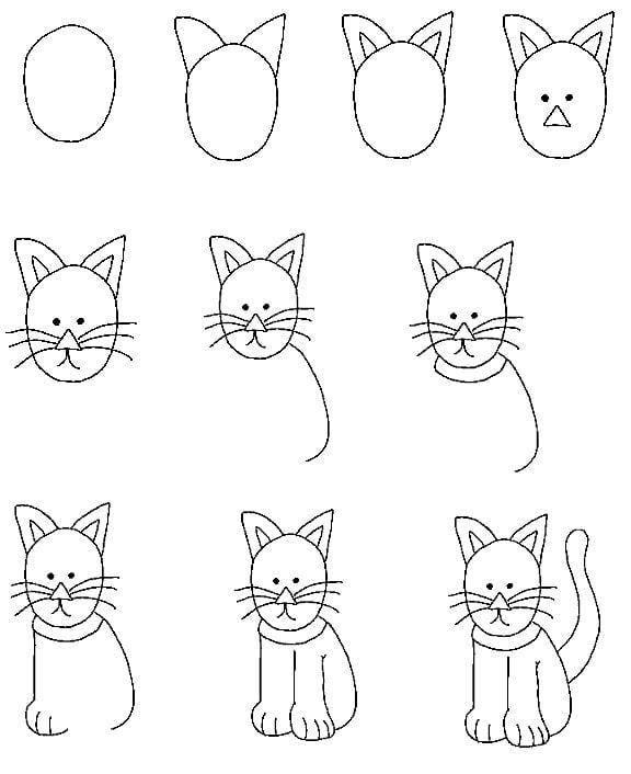 Einfache Zeichnungen für Kinder