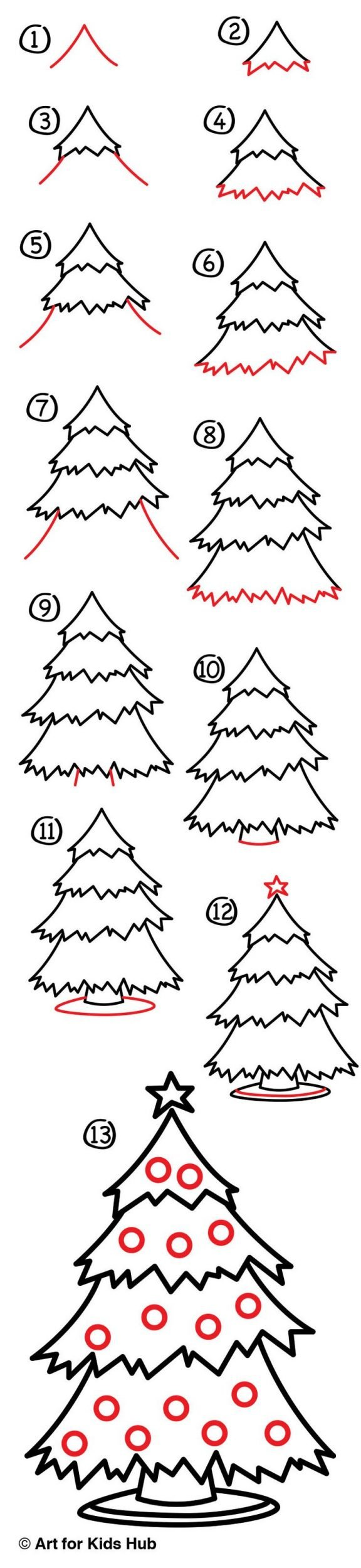 Zeichnen lernen Ausmalbilder Weihnachten