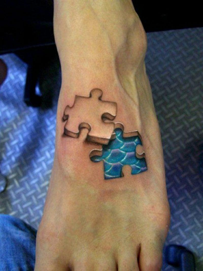 Tattoos Frau 3D Puzzle