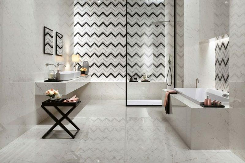 Badezimmer Fliesen Trends geometrische Muster