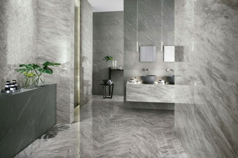 Wundervoll Fliesen Badezimmer Marmor