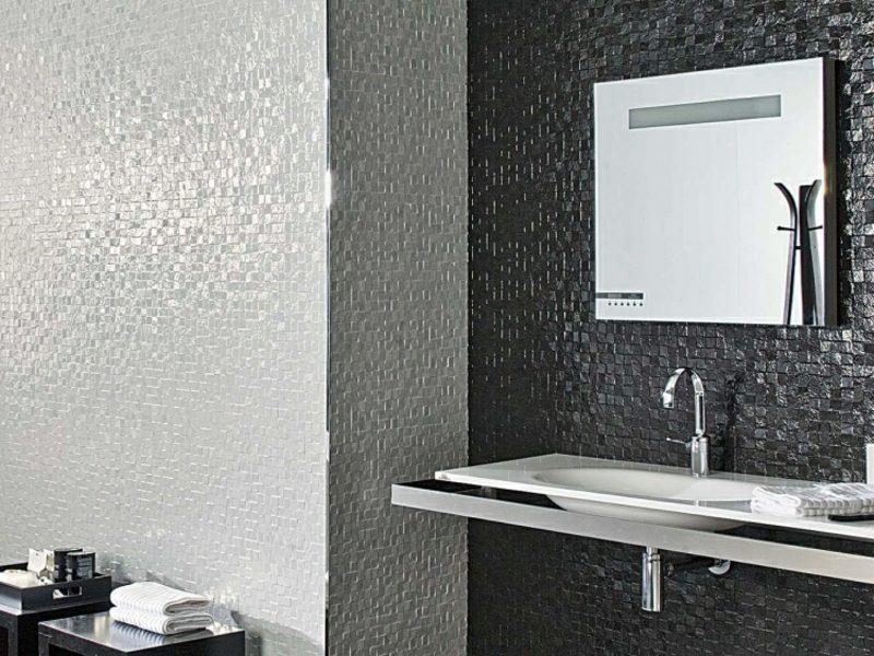 Badfliesen Mosaik modern elegant