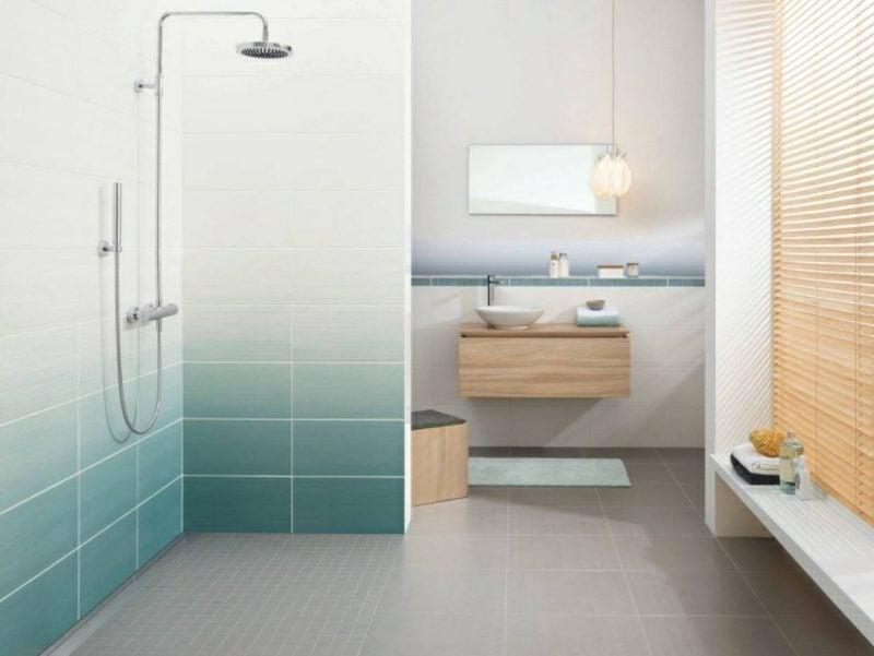 Badezimmer Fliesen Ideen Ombre Effekt. Fliesen Günstig Modern Badezimmer