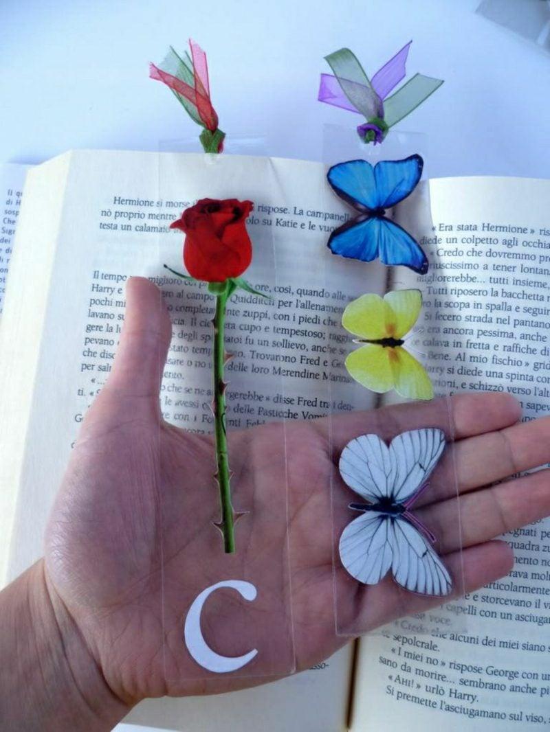 DIY Ideen Lesezeichen selber basteln
