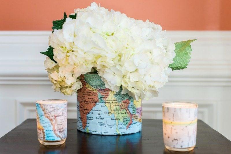 Bastelideen mit Papier Vase dekorieren