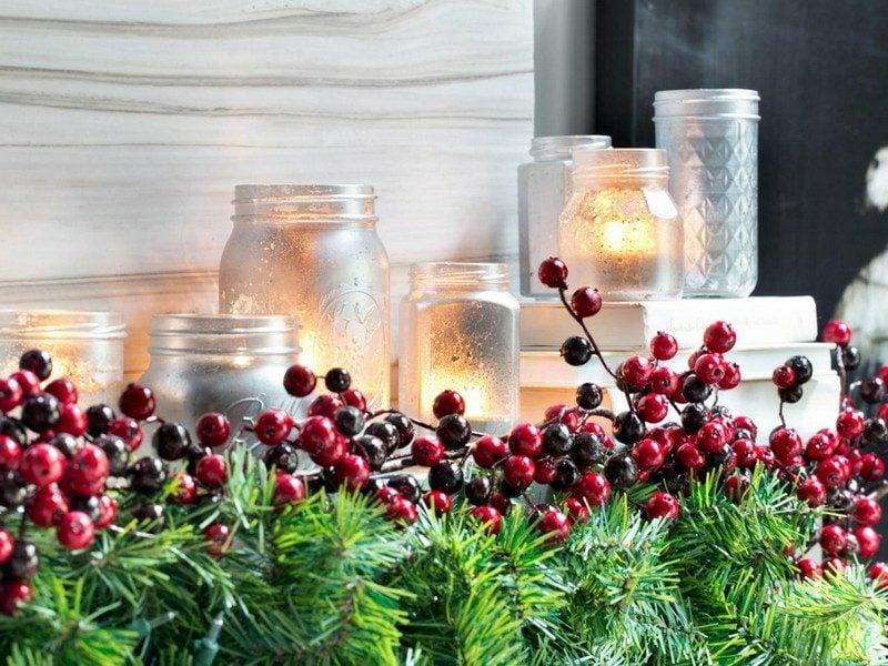 DIY Ideen Weihnachten Windlichter selber machen