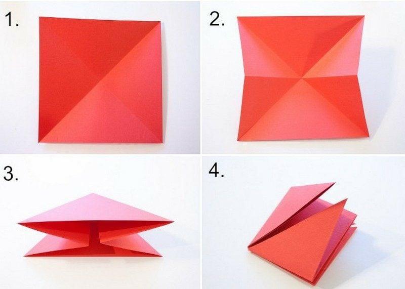Bastelvorlagen Origami falten