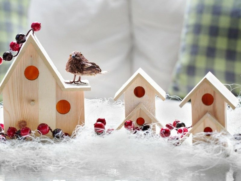 Basteln Ideen Vogelhaus aus Holz