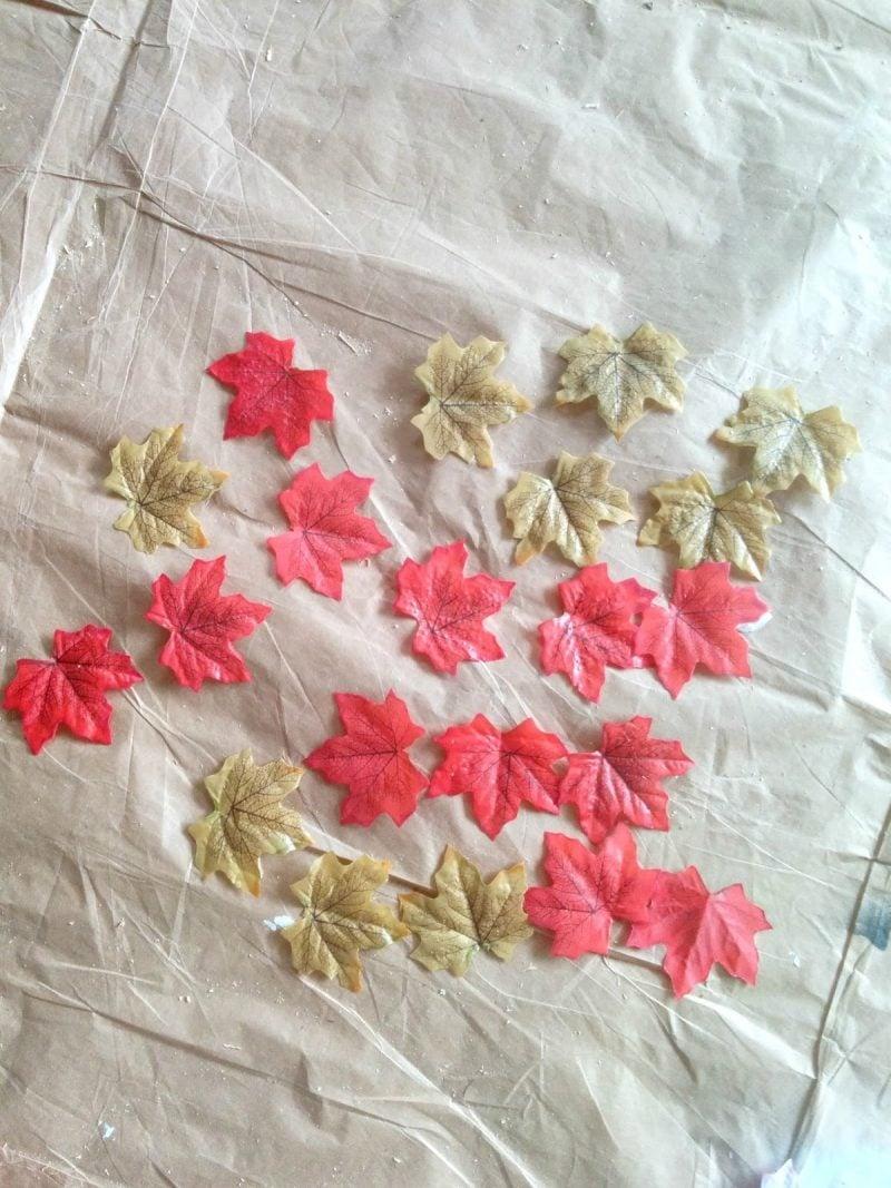 Gefärbte Herbstblätter
