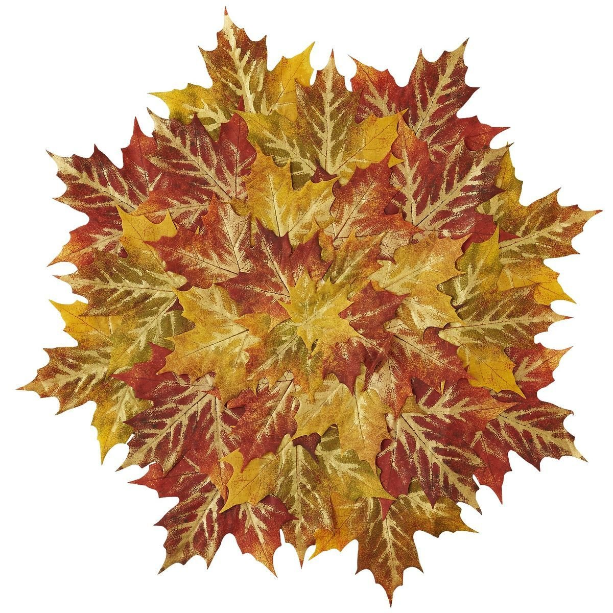 Türdeko aus Herbstblätter