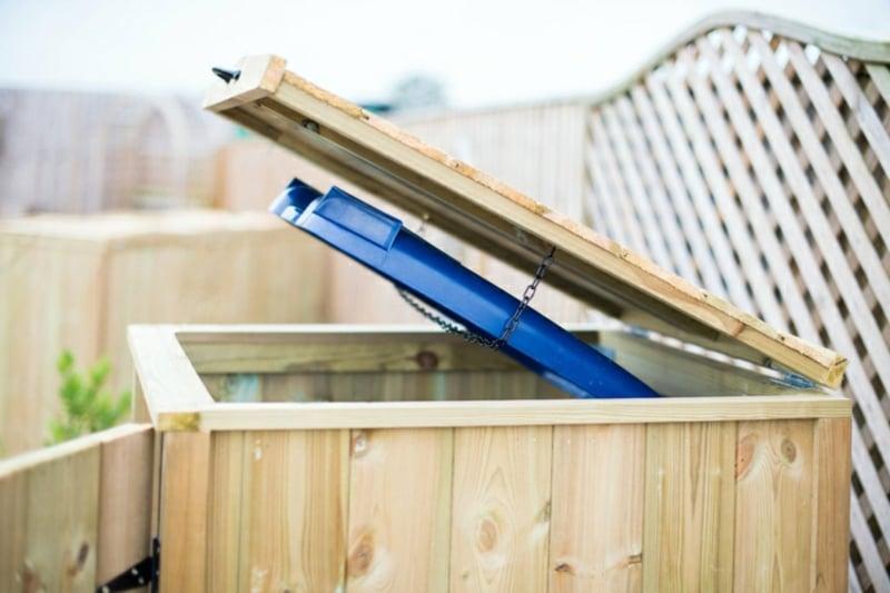 Mülltonnenbox selber bauen Anweisungen
