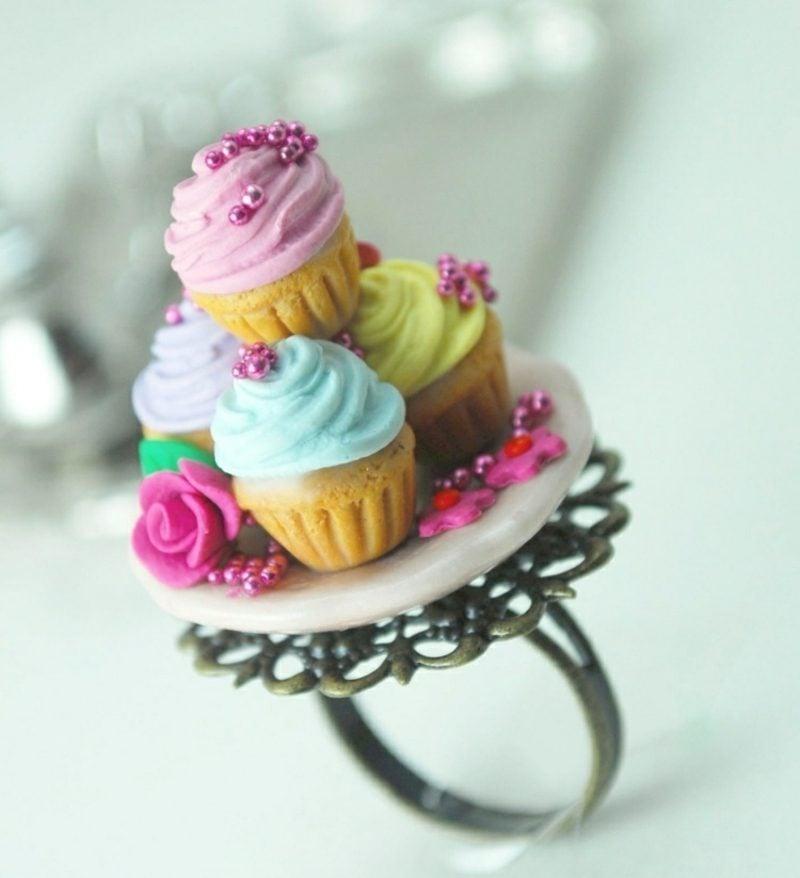 Geschenke basteln Ring Modeliermasse