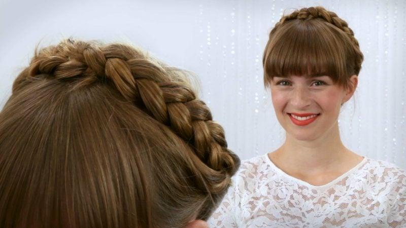 Frisuren halblanges Haar Oktoberfest