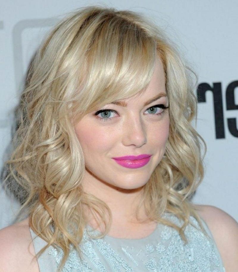 kühle Haarfarben Platinblond Emma Stone