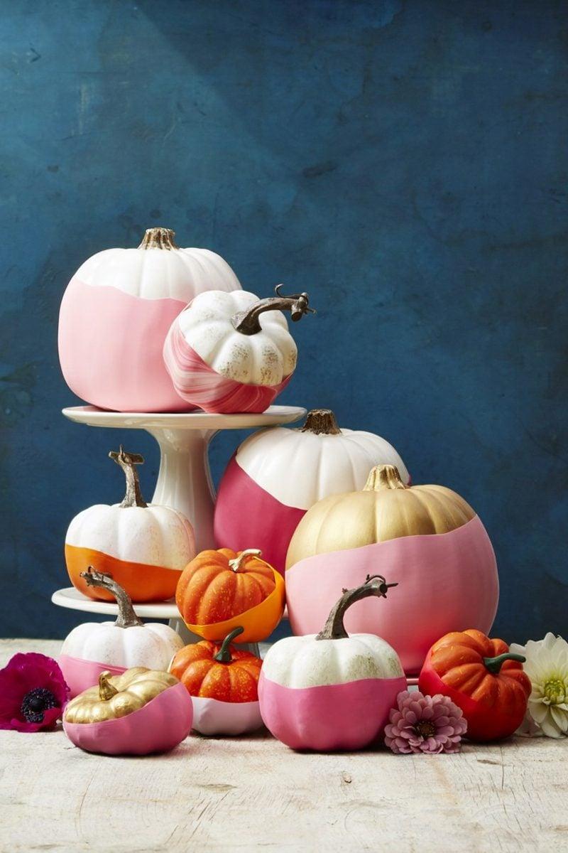 DIY Ideen Herbstdeko mit Kürbissen basteln