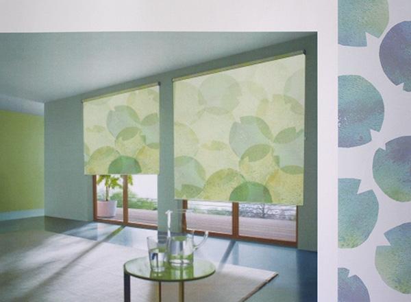 Fenster Rollo in Farbe