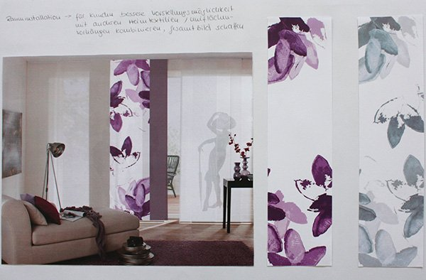 Textildesign Fensterdesign