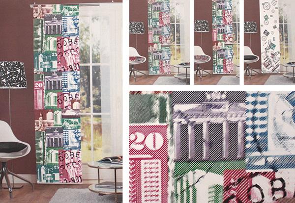 Fensterollos - Textildesign mit Farbe