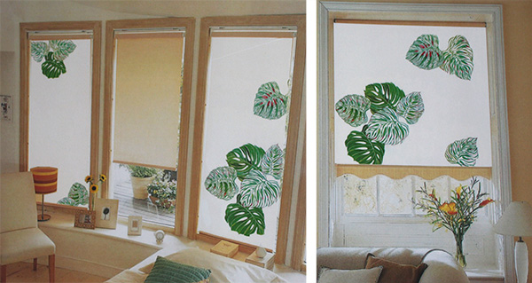 Textildesign für die Fenster