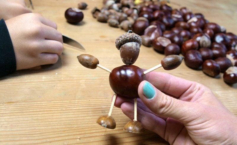 Basteln mit Kastanien Ideen DIY