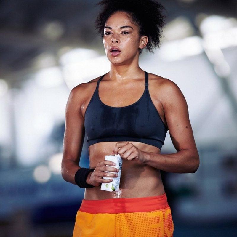 iso drink Kokoswasser Sport treiben